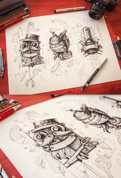 Steampunk 2012-2013 by Mike , via Behance