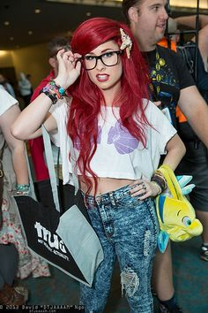 hipster ariel costume. This wouldn't work for what I need, but it's SO cute!