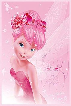 Disney Fairies Tink Pink Tinkerbell Fairy Poster Print Wall Art Large Maxi in DVDs, Films & TV, Film Memorabilia, Posters Tinkerbell Pictures, Tinkerbell And Friends, Tinkerbell Disney, Peter Pan And Tinkerbell, Tinkerbell Fairies, Disney Fairies, Tinkerbell Movies, Disney Love, Disney Magic