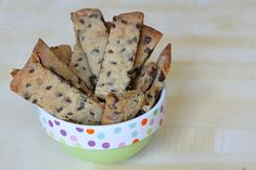 Chocolate Chip Toffee Strip Cookies on The Recipe Girl
