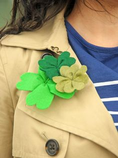 Felt Shamrock: Project 3 - 9 Easy Handmade Ideas for St. Patrick's Day on HGTV
