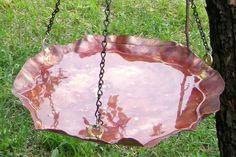Hanging Copper Bird Bath or Bird Feeder Copper Garden Art. $44.00, via Etsy.