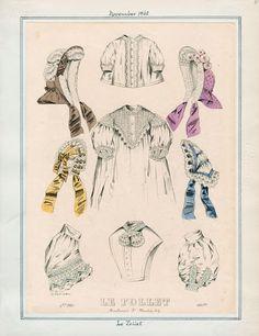 In the Swan's Shadow: Le Follet, November 1862  Civil War Era Fashion Plate