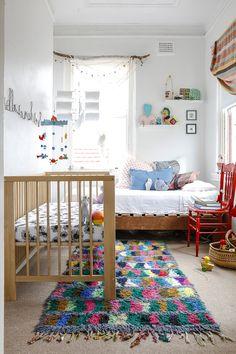 Little, bright & eclectic nursery interiors kids bedroom, br Baby Bedroom, Nursery Room, Kids Bedroom, Bedroom Ideas, Master Bedroom, Bright Nursery, Baby Nursery Neutral, Nursery Inspiration, Nursery Ideas