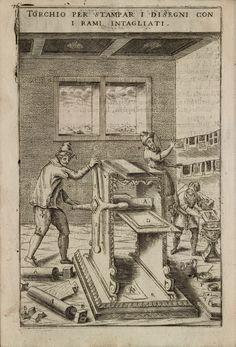 Intaglio press, illustration by Vittorio Zonca from 'Novo Teatro di Machine et Edificii' (1607).
