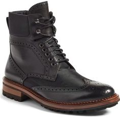 (Monte Rosso \'Santo\' Wingtip Boot (Men)) In other words...a higher class of kick ass dress boots!!! Formal or casual, you can\'t go wrong!!!