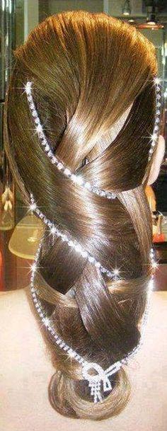 Rhinestone Laced Braid