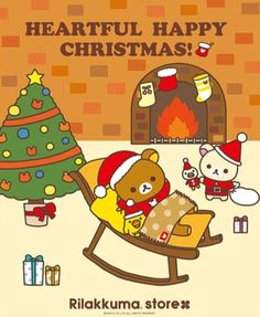 kawaii Rilakkuma Christmas wallpaper | Rilakkuma | Pinterest ...