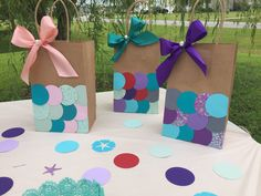 Mermaid Theme Birthday, Little Mermaid Birthday, Little Mermaid Parties, 6th Birthday Parties, Birthday Fun, Birthday Ideas, Mermaid Baby Showers, Mermaid Gifts, Party Gift Bags