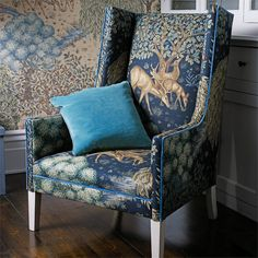 Tyg The Brook Tapestry Blue - systerlycklig.se