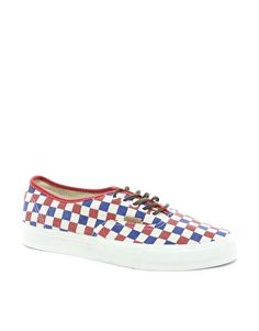 Vans California Authentic Checker Plimsolls