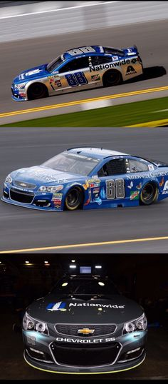 "Dale ran 5 different paint schemes in 2016, the season starting with the Nationwide Blue with silver siding, the Nationwide Children's Hospital Foundation campaign car, the Batman vs. Superman: Dawn of Justice Batmobile, the ""Buddy Baker"" throwback Gray Ghost paint scheme, and the Nationwide 600 Miles of Remembrance campaign at the Coca Cola 600 at Charlotte Motor Speedway, honoring American heroes"