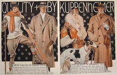 1928 Kuppenheimer Menswear Ad ~ Leyendecker ~ Borzoi