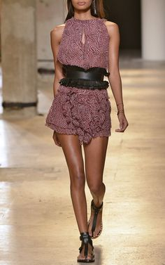 Isabel Marant Spring/Summer 2015 Trunkshow Look 10 on Moda Operandi London Fashion Weeks, New York Fashion, Paris Fashion, Women's Fashion, Spring Summer 2015, Spring Summer Fashion, Prada Spring, Fall 2016, Best Casual Outfits