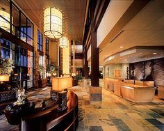 Newpark Hotel's lobby - warm, comfortable and inviting