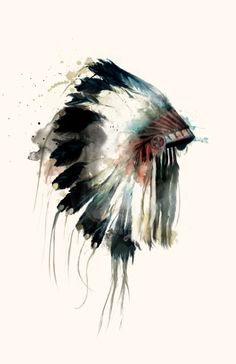 Headdress Canvas Print by Amy Hamilton