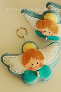 Moldes para hacer angelitos de fieltro - Dale Detalles