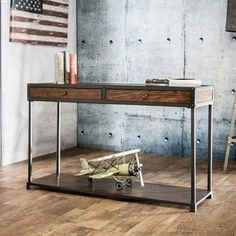 Shop for Furniture of America Thorne Antique Oak Industrial Sofa Table. Get free shipping at Overstock.com - Your Online Furniture Outlet Store! Get 5% in rewards with Club O! - 16785550