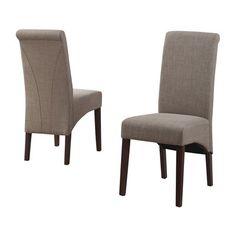 Simpli Home WS5134 Avalon Linen Parson Chair (Set of 2)