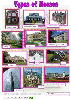 Different Types of Houses project Pinterest Homework and