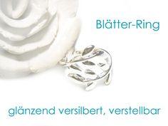 Ring+Blätter,+Blätterring,+versilberter+Ring+von+DeineSchmuckFreundin+-+Schmuck+und+Accessoires+auf+DaWanda.com