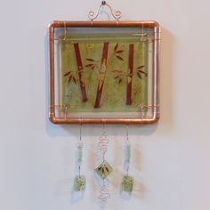 Bamboo  Fused Glass Wall Hanging by PattyMelts on Etsy
