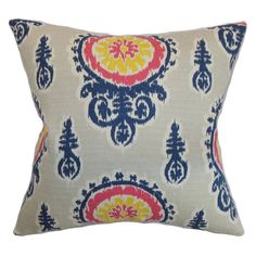 Have to have it. The Pillow Collection Oenpelli Floral Pillow - Birch - $71.99 @hayneedle.com