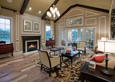 vaulted ceiling fireplaces - Google Search