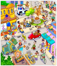 Great visual for class. Bob Brugger - professional children's illustrator, view portfolio