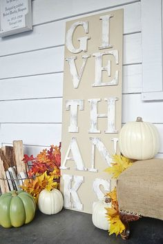DIY rustic Fall sign. So easy to make ANYONE can do it!