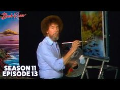 This is a carefully selected five episodes of Bob Ross's 'The Joy Of Painting', selected by the folks at Hyperallergic for MAX INSPIRATION AND PEP TALKAGE. Sure you could just watch any of the 403 episodes (the entire 'Joy. Pinturas Bob Ross, Bob Ross Youtube, Short Textured Bob, Graduated Bob Haircuts, Bob Ross Art, Bob Ross Paintings, Oil Paintings, Line Bob Haircut, Happy Little Trees
