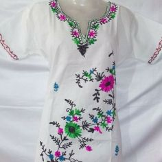 General Information about the product Brand ----- kashmir embroidery kurti Type ----- Kurti For ------ Girls,Women Occasion ---- Casual Wearing Size ----- small,Medium,large,extra large Color of Kashmiri Suits, Half Sleeves, Kurti, Cold Shoulder Dress, Tunic Tops, Pure Products, Casual, Type, Cotton