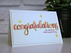 Congratulations card using the Amazing Congratulations stamp set from Stampin' Up!