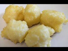 Filipino Cascaron, Bitsu Bitsu, Carioca Recipe Sweet Rice ball recipe! :D 1 cup rice flour  1 cup shredded coconut  1 cup coconut milk  2 cups vegetable oil  Coating Recipe:  1 cup coconut milk  1/2 cup brown sugar