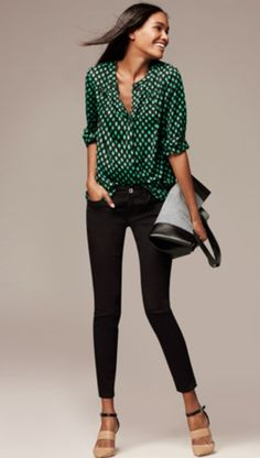 Love the bold green with black