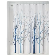 Contemporary Shower Curtain Abstract Art Pink Yellow Sage Gray Green Blossom