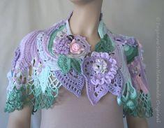 Free Form Crochet Cape Spring Color Cape by SuzanneSullivan