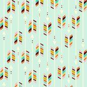 Fitted Crib Sheet modern gender neutral arrows by PattyLuDesigns