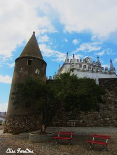 Castle and Church of Viana do Alentejo, built in 1313 by Dom Dinis and rebuilt by Dom João II.