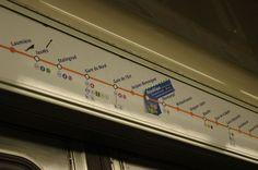 Paris Metro Train Interior by Michael D Mann, via Flickr