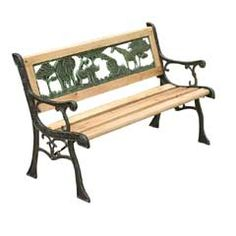 This fabulous safari-themed Kids Wooden Garden Bench is a must-have for your garden! It is a classic, 4 slat hardwood garden bench that is manufactured with. Rustic Potting Benches, Wooden Garden Benches, Garden Chairs, Kids Seating, Outdoor Seating, Outdoor Decor, Safari, Wooden Garden Furniture, Outdoor Furniture