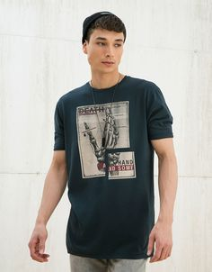 Graphic print - T-shirts - MAN - MAN - Bershka Turkey