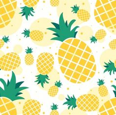 Pineapple Backgrounds, Pineapple Wallpaper, Cute Pineapple, Pineapple Pattern, Disney Canvas Art, Mini Canvas Art, Pineapple Drawing, End Of Year Party, Backgrounds