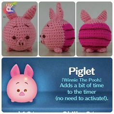 This pattern is available only in English language. For those who love cute things, Tsum Tsum Piglet is at the perfect size to hold on your palm or attach on your bag to be your traveling companion. Format: PDF document of 8 pages with detailed instructions. Finished size: approx. 3""