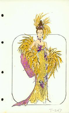 Captain's Lady Costume designed by Pete Menefee for Jubilee! Illustration Fashion, Fashion Illustrations, Fashion Sketches, Merry Widow, Edith Head, Old Shows, Simple Doodles, Ballet Costumes, Showgirls