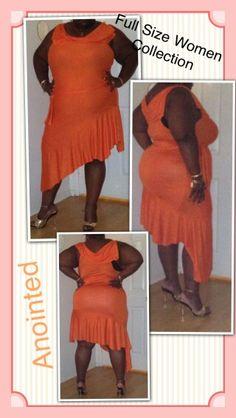 Orange knits for full figured women