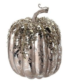 Loving this Platinum Tall Pumpkin on #zulily! #zulilyfinds