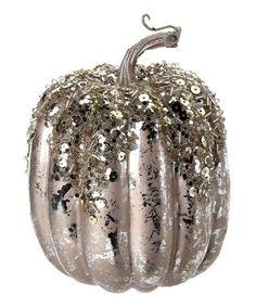 Loving this Platinum Tall Pumpkin on #zulily! #zulilyfinds