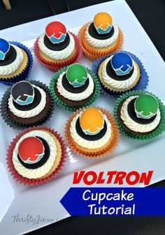 This DIY Voltron Cupcake Tutorial is perfect for a Voltron-themed birthday party or any day for a Voltron fan!