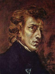 delacroix 1838  retrato de Chopin ubicada en el louvre